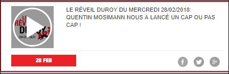 [28/02/2018/08h30] Nrj Belgique - Le  Reveil  Duroy   Captu450