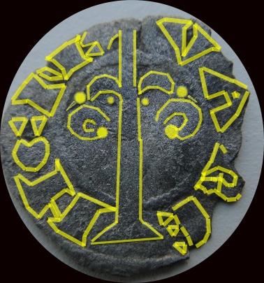 Denier de Valence ( ESPAGNE) croix et fleuron Buse_y10
