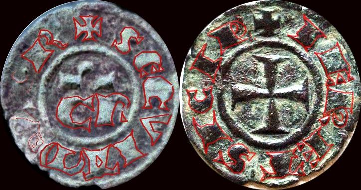 Denier de Conrad II, roi de Sicile ... Dom56_10