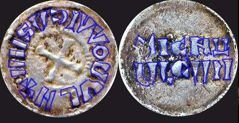 Denier carolingien de Strasbourg pour Louis IV l'Enfant, roi de Germanie Fromag10