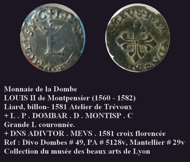 Liard de billon pour Louis II de Montpensier, 1581 ... Jeroni22