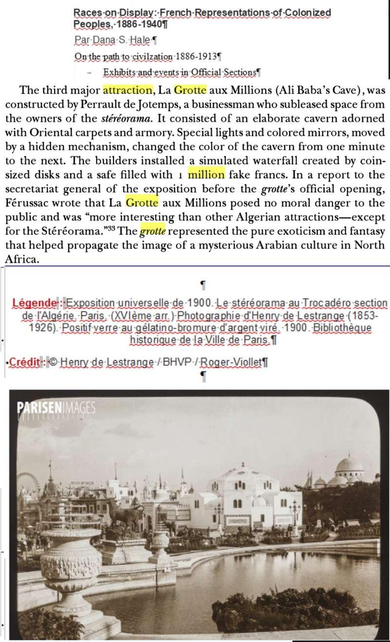 """Jeton d'entrée à l'attraction """"La Grotte aux Millions"""" à l'Expo Universelle de 1900 ... Jeroni25"""