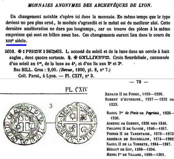 Archevêché de Lyon - Blanc de billon Jyroni12