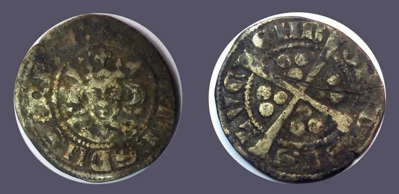 Esterlin Luxembourgeois de Jean l'Aveugle (1309-1346) ... Mbac_l10