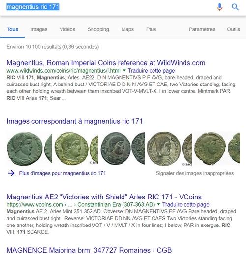 "Maiorina de Magnence ""VICTORIAE DD NN AVG ET CAES"" ... Recher10"