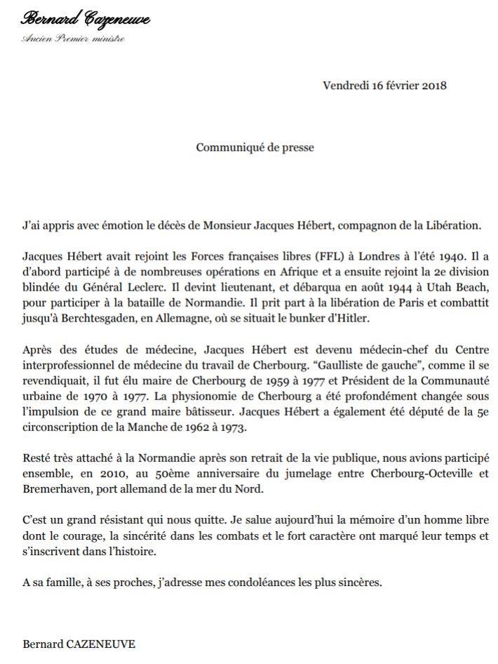 Jacques HEBERT est décédé le 15 février 2018 - 501e RCC Dwk0g110