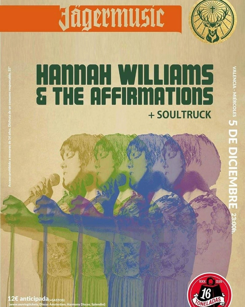 HANNA WILLIAMS AND THE AFFIRMATIONS -  SOUL STRUCK 5 DICIEMBRE 16 TONELADAS  Img_2065