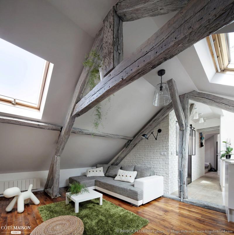 recherche des conseils pour peindre des poutres en bois en gris. Black Bedroom Furniture Sets. Home Design Ideas