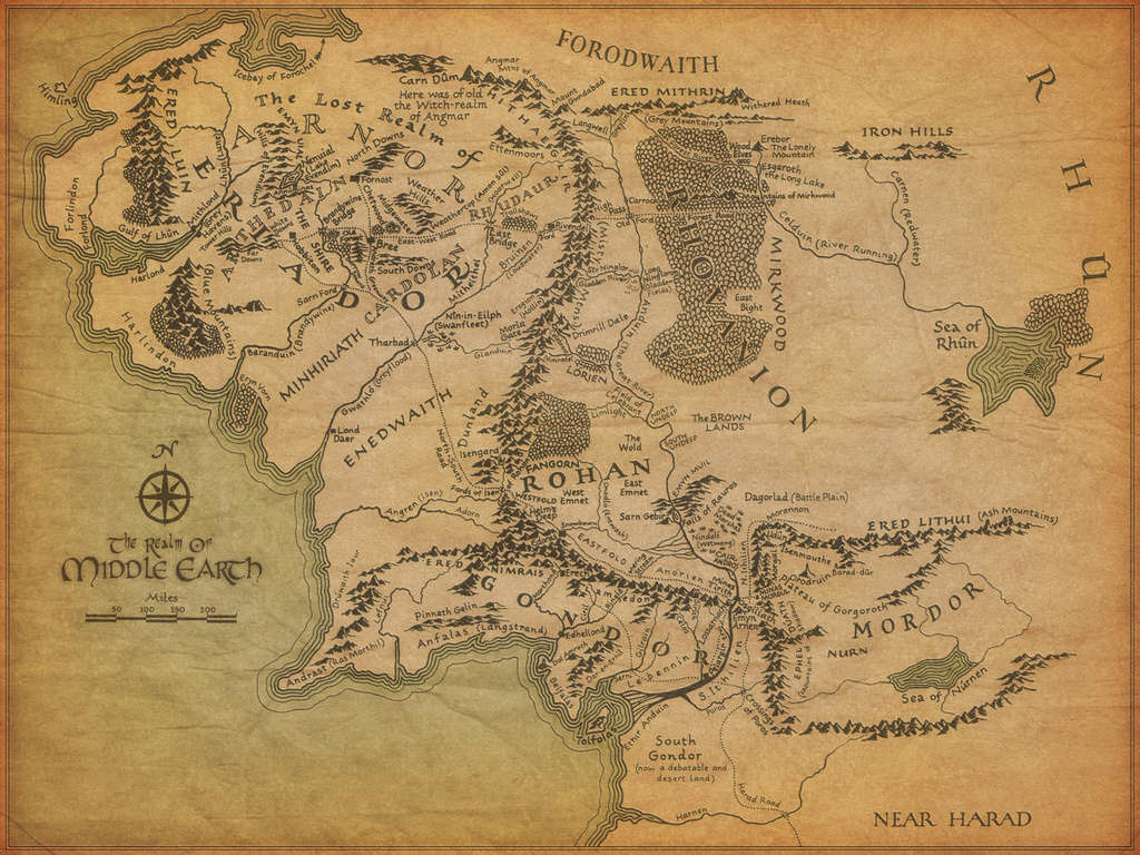 Mapa de la Tierra Media Middle10
