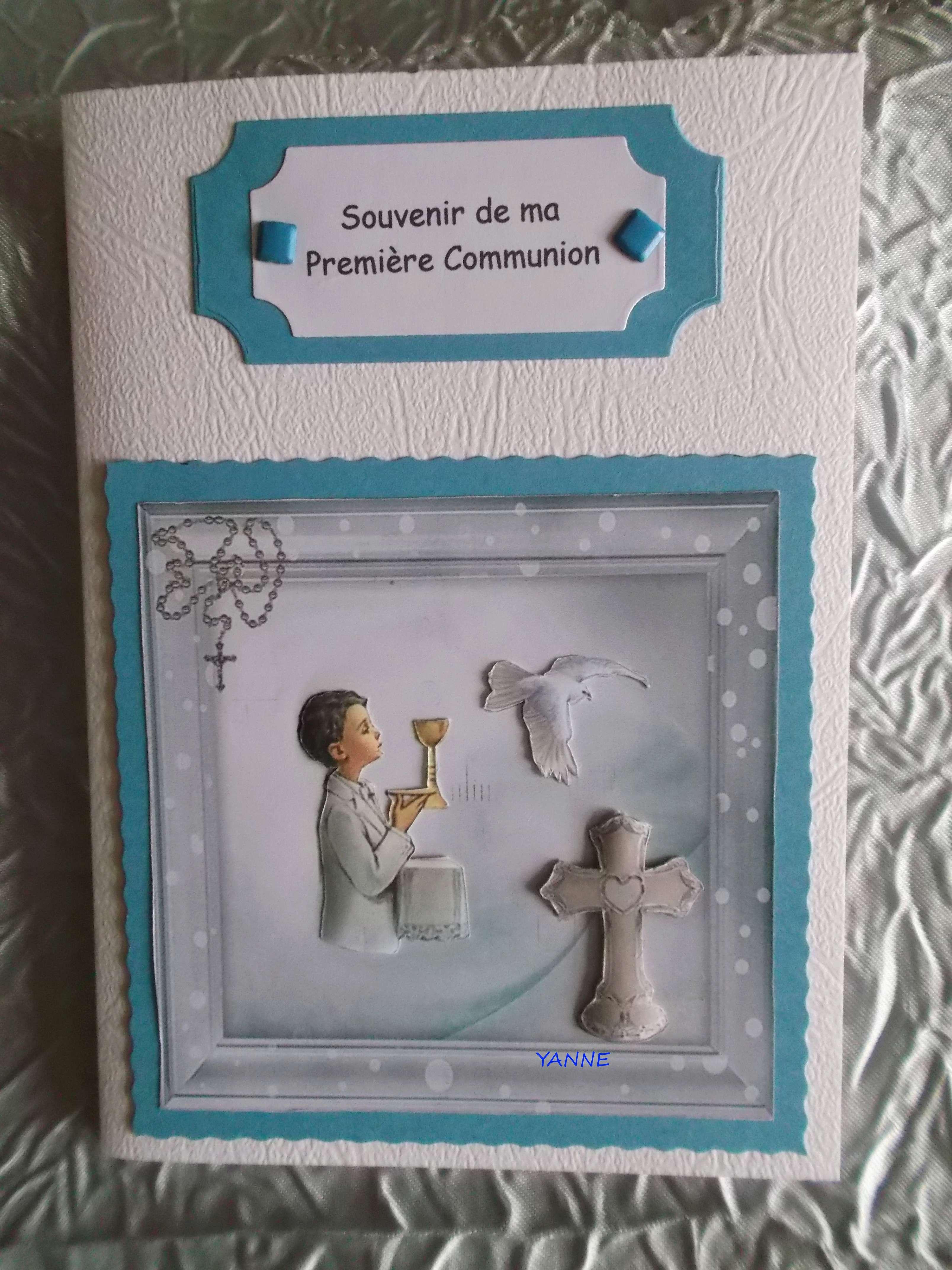cadre et carte communion,  Dscf5555