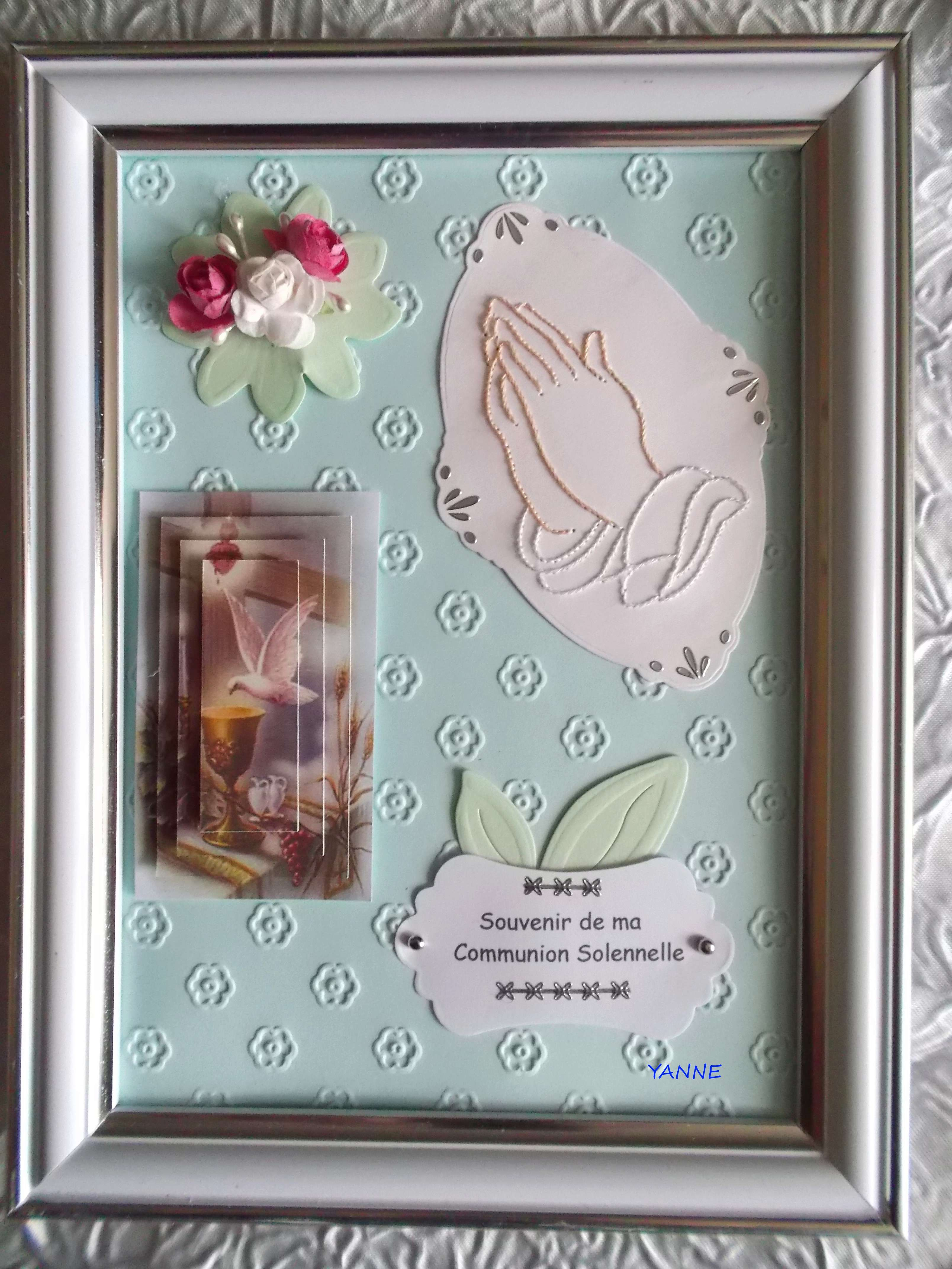 cadre et carte communion,  Dscf5556