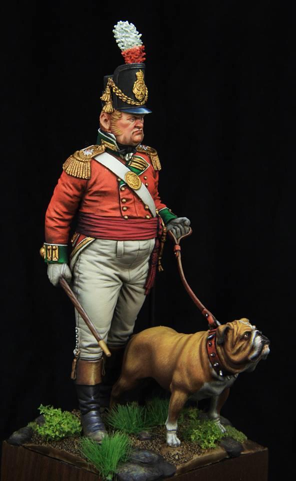 Officeir Britannique avec chien Pf110