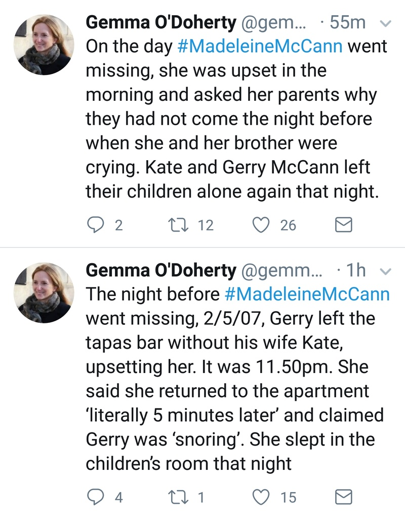 Gemma O'Doherty investigative journalist will soon publish details of her investigation into the Madeleine McCann case Screen29