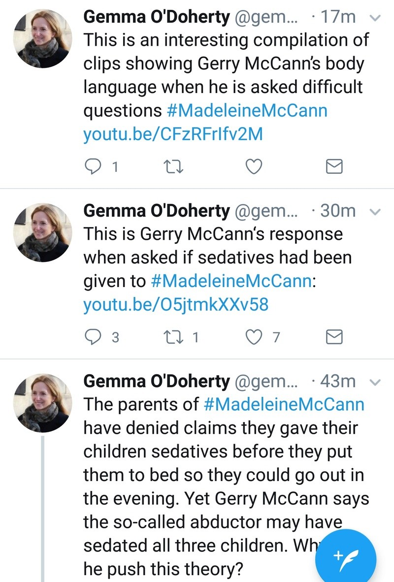 Gemma O'Doherty investigative journalist will soon publish details of her investigation into the Madeleine McCann case Screen31
