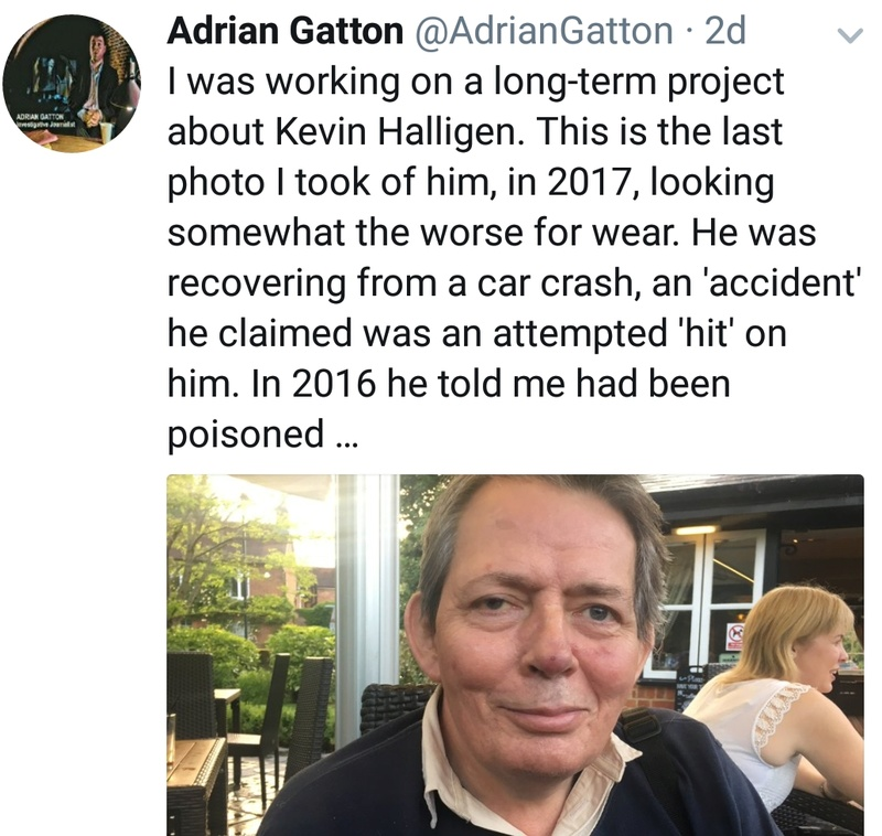 UPDATE: **'INQUEST - 24 January 2018'** The Complete Mystery of the Death of Kevin Halligen: An Update 15 January 2018 Screen35