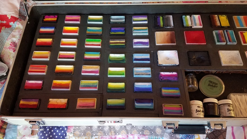 For sale: Facepainting setup - complete custom kit and travel kit. 20171110