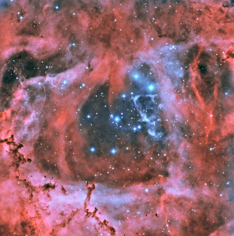 Le coeur de la Rosette en HOO Ngc_2216