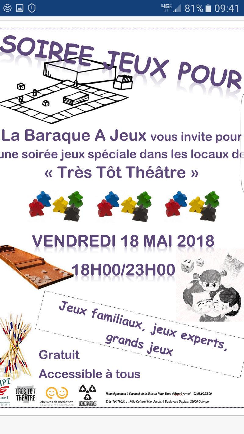 Attention la soirée de vendredi 18 mai 2018 se passe à très tôt théâtre  Screen15