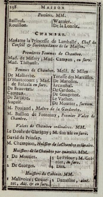 Maison et dames du Palais de la reine Marie-Antoinette - Page 7 1381010