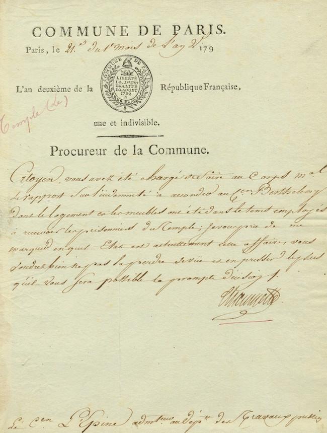 Le transfert de la famille royale des Tuileries au Temple ... 15090910