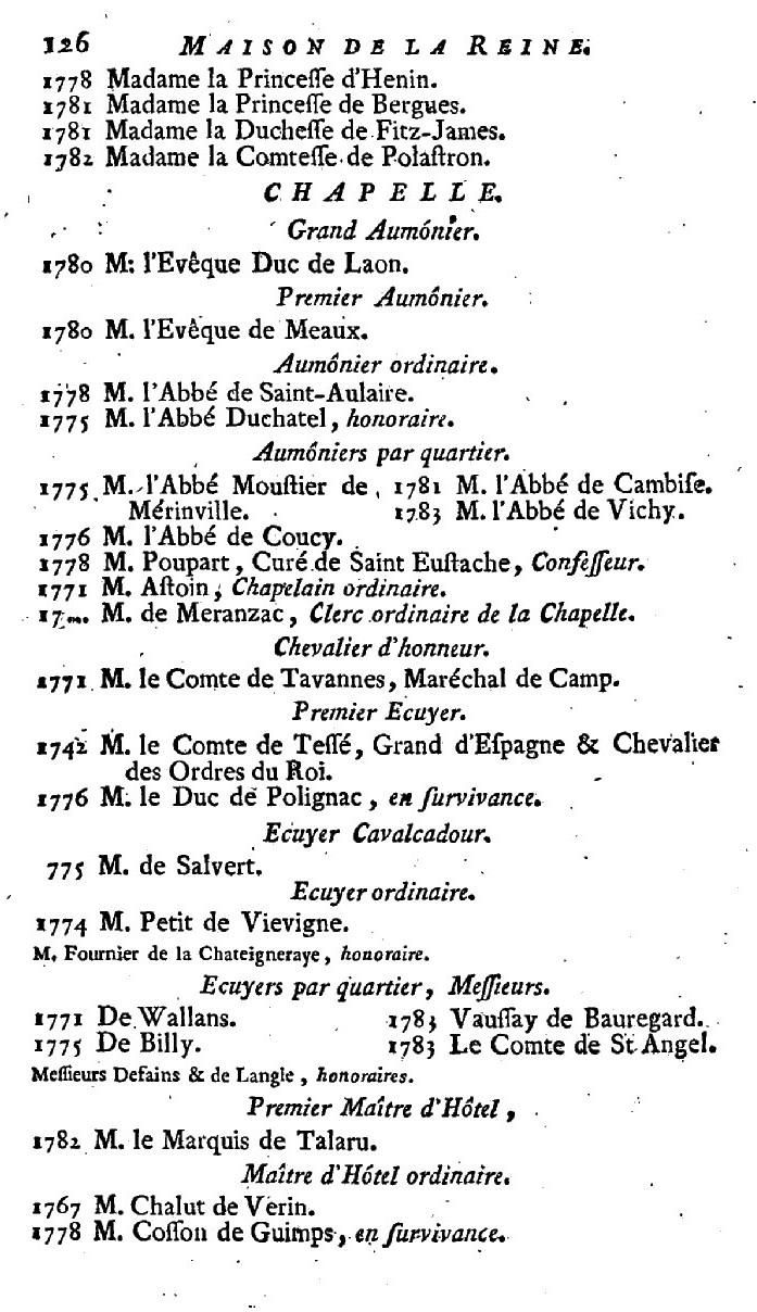 Maison et dames du Palais de la reine Marie-Antoinette - Page 7 217