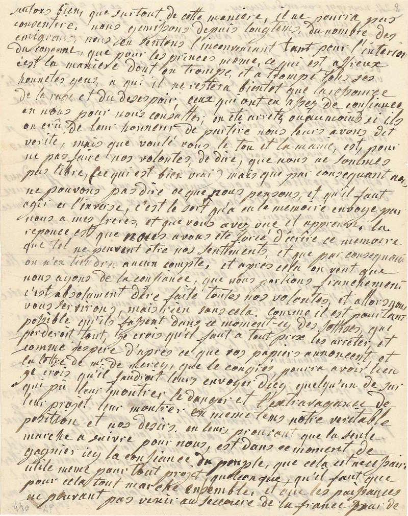 Lettres autographes de Marie-Antoinette à Fersen conservées aux A.N 218