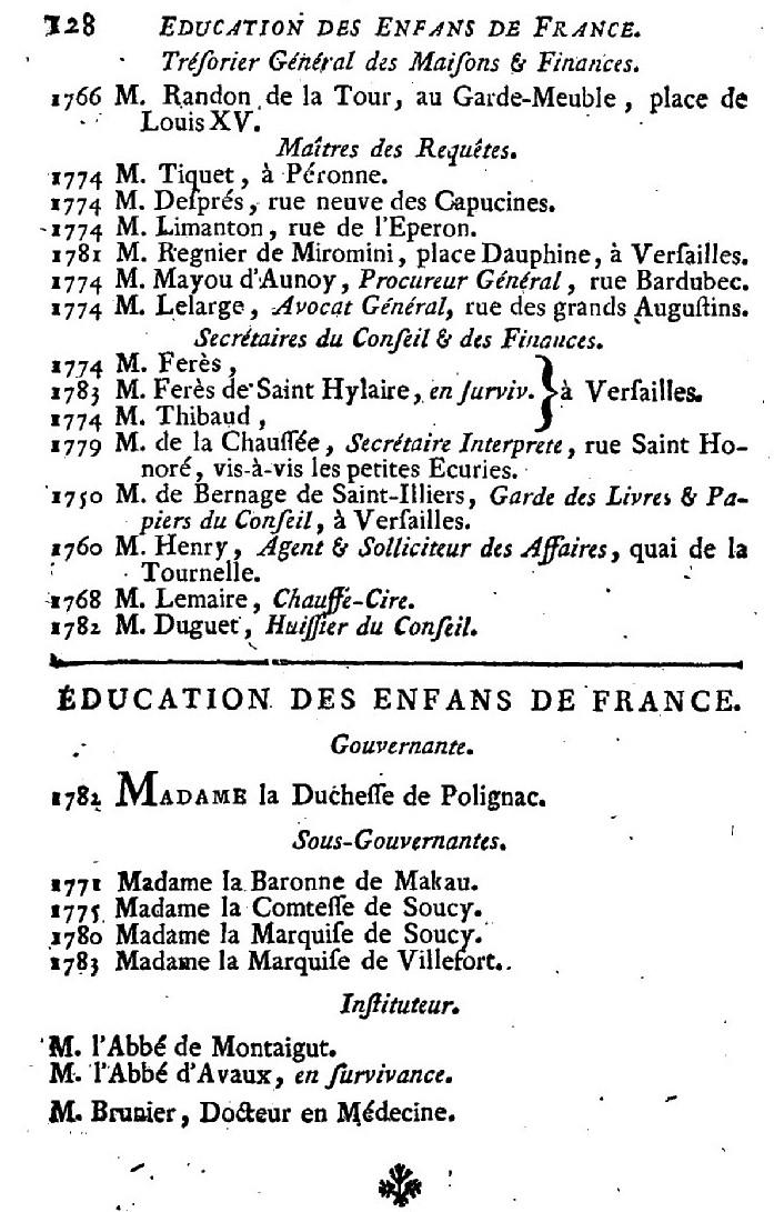 Maison et dames du Palais de la reine Marie-Antoinette - Page 7 415