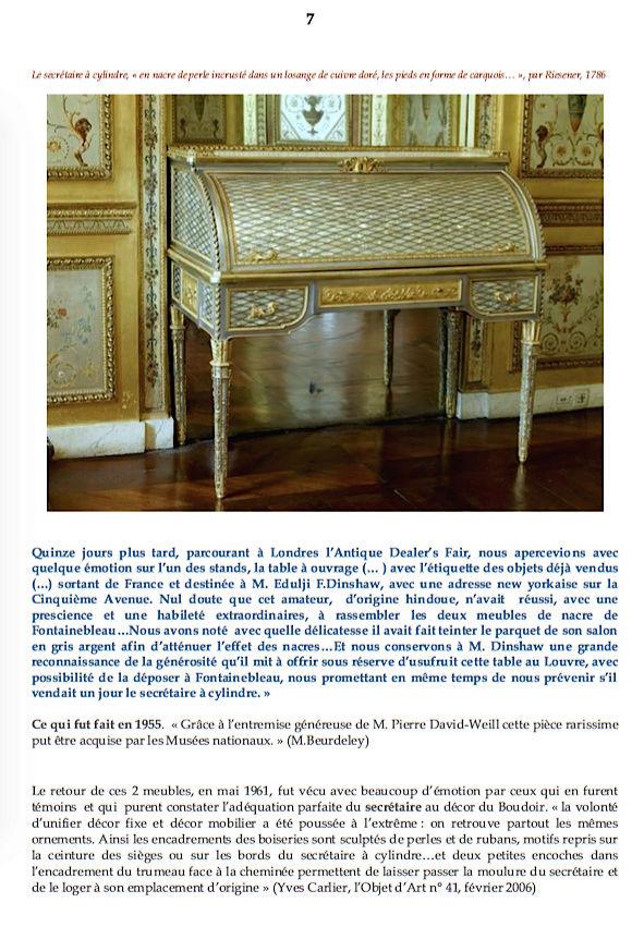 Le boudoir d'argent de Marie-Antoinette au château de Fontainebleau  710