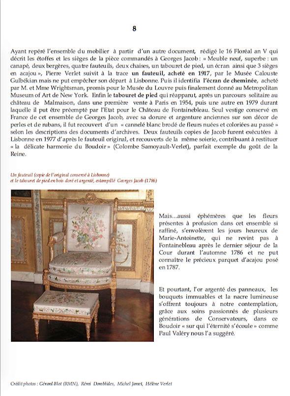 Le boudoir d'argent de Marie-Antoinette au château de Fontainebleau  810