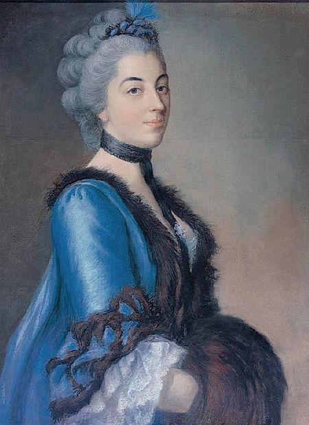 Galerie de portraits : Le manchon au XVIIIe siècle  Anne_g11