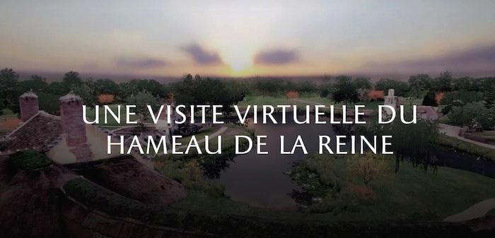 Numérisation 3D et visite virtuelle du hameau de Marie-Antoinette Captu391