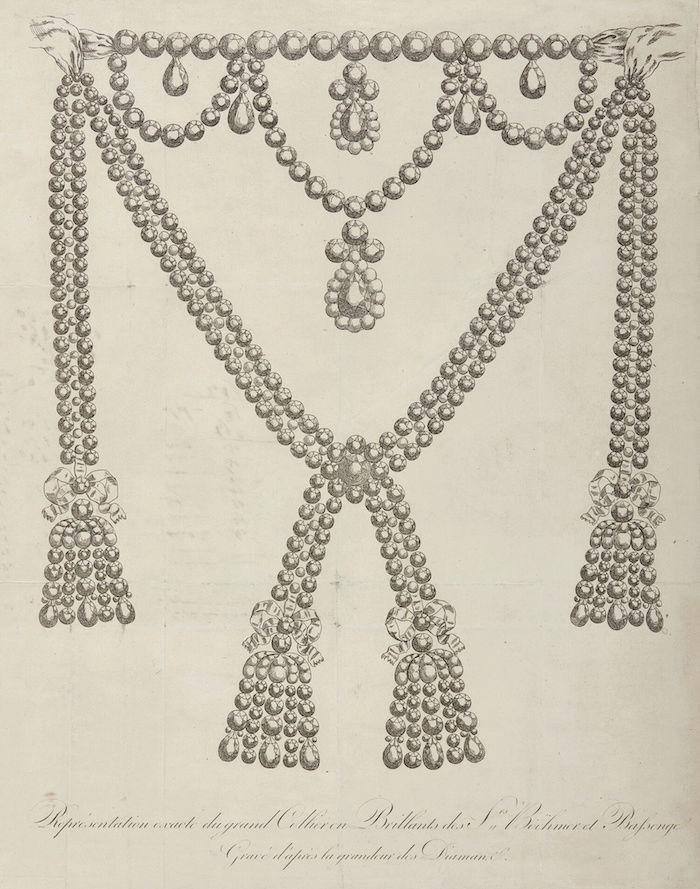 Le collier dit de la reine Marie-Antoinette (L'affaire du collier de la reine), et ses répliques Captu458