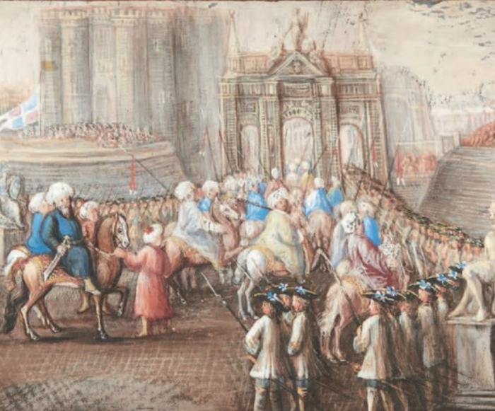 Yirmisekiz-Mehmed Çelebi Efendi - Ambassadeur de la Sublime Porte en visite en France de 1720 à 1721 Captur81