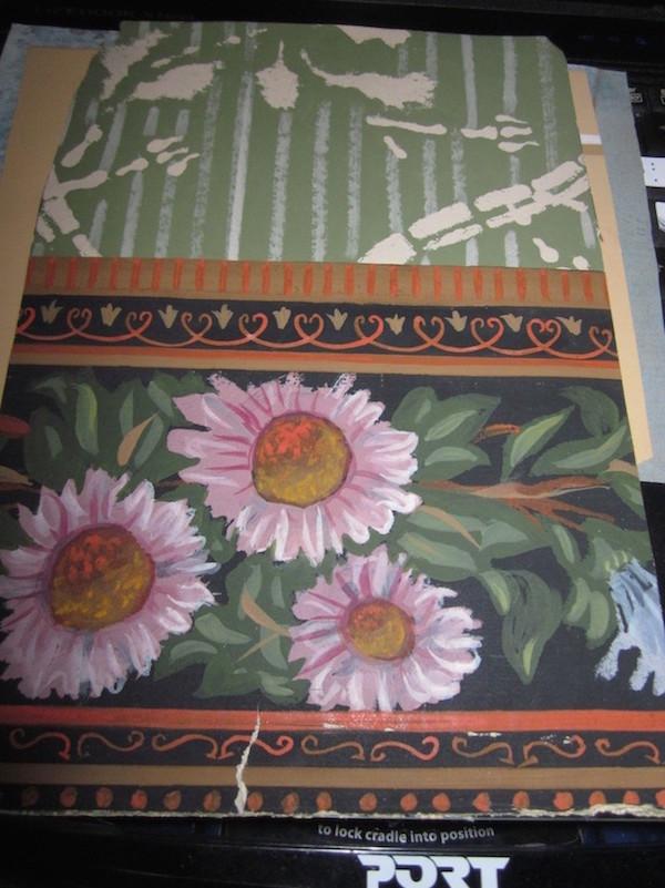 Les papiers peints de la prison du Temple Chambr12