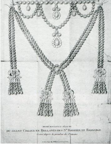 Le collier dit de la reine Marie-Antoinette (L'affaire du collier de la reine), et ses répliques Collie12