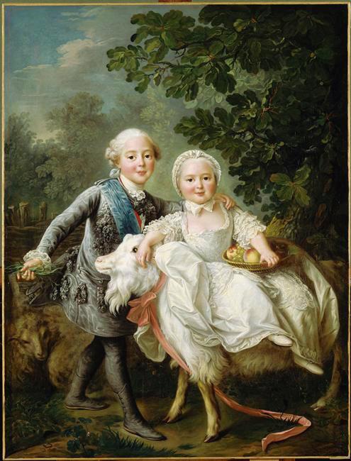 Portraits de famille de Louis XV sur une tabatière Drouai11