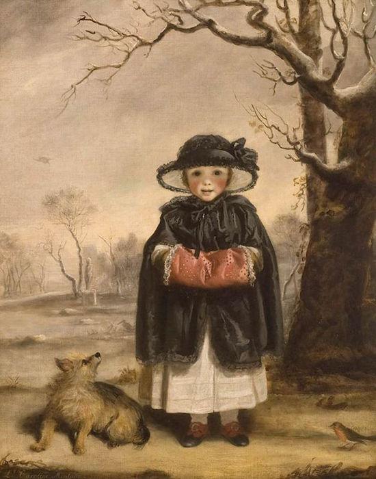 Galerie de portraits : Le manchon au XVIIIe siècle  Lady_c11