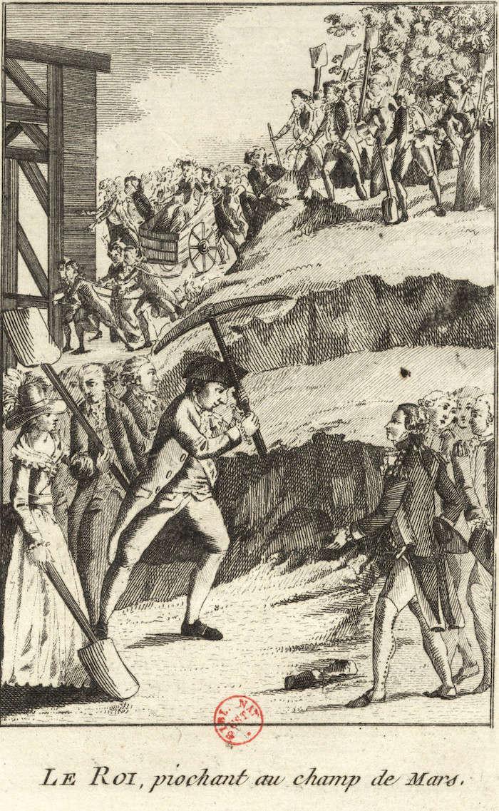 fédération - La Fête de la Fédération (14 juillet 1790)  Le_roi10
