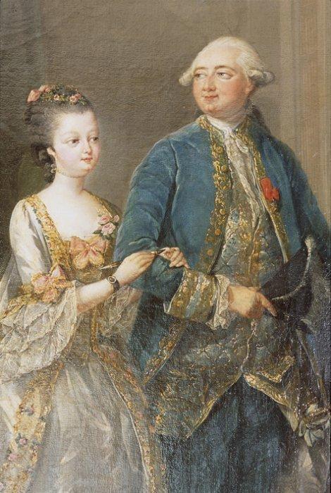 Qui sont les personnages peints sur ce tableau de Jean-Baptiste-André Gautier Dagoty ? Louise11