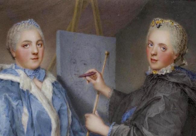 Portraits de famille de Louis XV sur une tabatière Madame11
