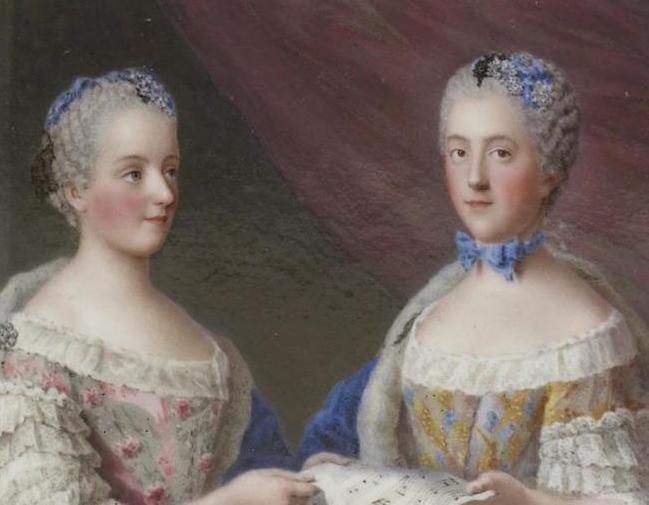 Portraits de famille de Louis XV sur une tabatière Madame12