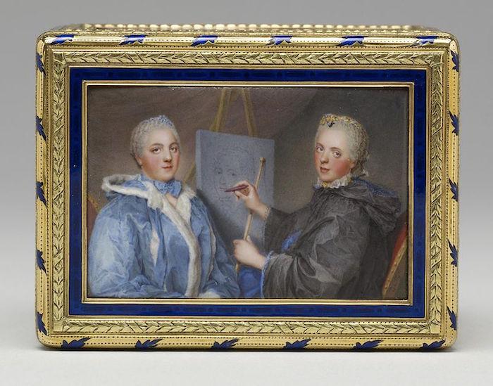Portraits de famille de Louis XV sur une tabatière Madame13