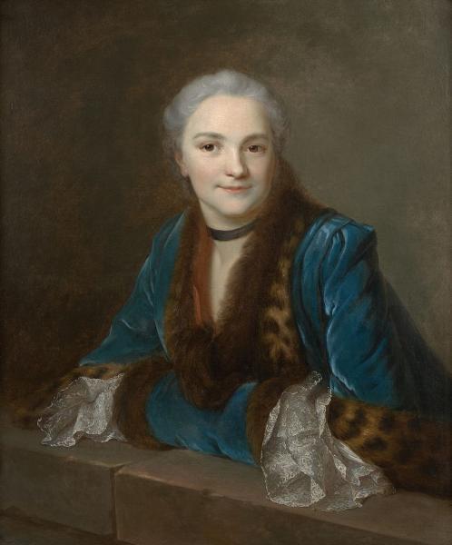 Galerie de portraits : Le manchon au XVIIIe siècle  Marie-10