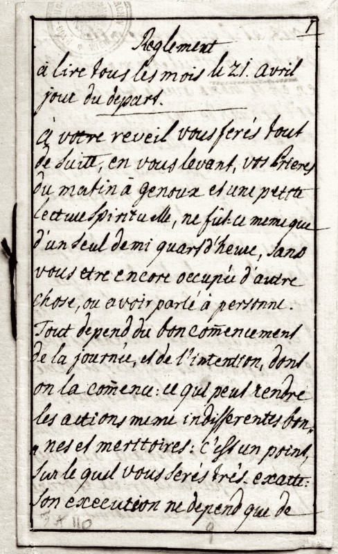 Instructions de Marie-Thérèse à Marie-Antoinette : Règlement à lire tous les mois Marie_48