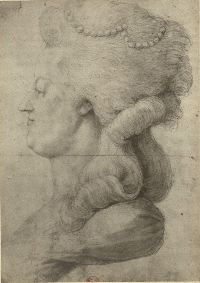 Portraits de Marie-Antoinette costumée à l'antique, ou en vestale, par et d'après F. Dumont  Marie_79