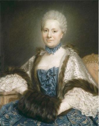 Galerie de portraits : Le manchon au XVIIIe siècle  Mme_de11