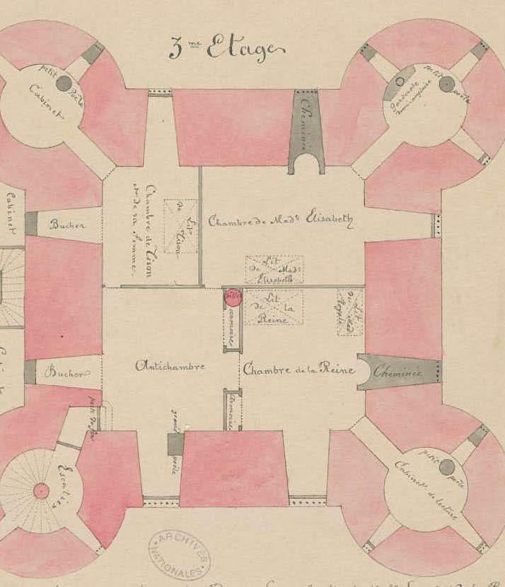 La famille royale à la prison du Temple : plans et aménagements - Page 5 Plan_d12