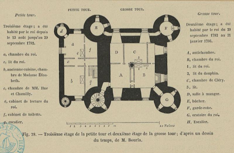La famille royale à la prison du Temple : plans et aménagements - Page 4 Plan_p16