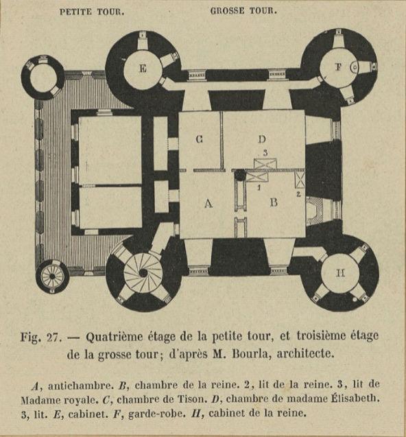 La famille royale à la prison du Temple : plans et aménagements - Page 4 Plan_p17