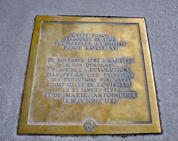 La place Louis XV, puis place de la Révolution, puis place de la Concorde au XVIIIe siècle - Page 2 Plaque10
